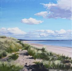 An artist in Troon, Ayrshire, Scotland. Paints landscapes and seascapes, from woodlands to shorelines. Interested in the influence of the sky, and its changing mood and atmosphere. Thumbnail gallery of his paintings. Sea Paintings, Landscape Paintings, Coastal Art, The Dunes, Glasgow, Acrylics, Watercolour, Boats, Scotland