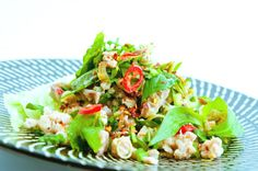 Regarded as the national dish ofLaos, Larb is a sour and spicy meat salad often made with duck, chicken or pork andsometime...