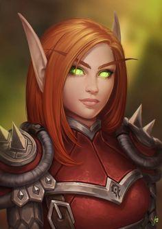 Silfyre by JuneJenssen on DeviantArt World Of Warcraft 3, World Of Warcraft Characters, Warcraft Art, Dungeons And Dragons Characters, Dnd Characters, Fantasy Characters, Female Characters, Fantasy Warrior, Fantasy Girl