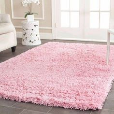 Safavieh Hand-Tufted Shag Area Rug, Pink