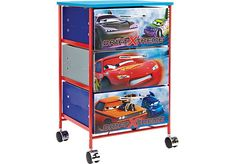 Shop for a Disney Cars Rolling Bin at Rooms To Go Kids. Find  that will look great in your home and complement the rest of your furniture.