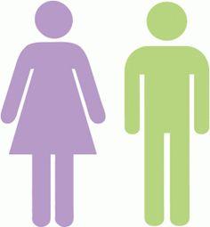 Silhouette Design Store - View Design #65508: male & female icons