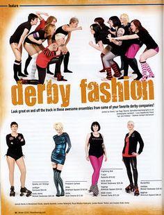 www.sourpussclothing.com: Roller Derby Fashion 5 on 5 Magazine