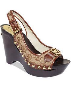 MICHAEL Michael Kors Shoes, Charm Platform Wedge Sandals - Espadrilles & Wedges - Shoes - Macy's