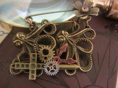 Steampunk Brooch Pin Bronze coloured alloy by InspiredbySteamPunk