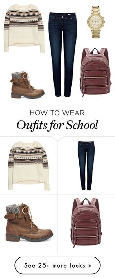 """""""School Day"""" by yungbloods822 on Polyvore featuring moda, Anine Bing, H&M, Marc by Marc Jacobs, Michael Kors ve Steve Madden"""