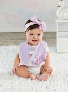 Baby Aspen Fairy Princess Swan Bib and Headband Set Mom And Baby, Baby Love, Baby Kids, Diy Headband, Baby Headbands, Cute Kids, Cute Babies, Baby Boy Outfits, Kids Outfits