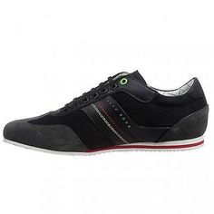 Hugo Boss Victov Mens 50311365-001 Black Casual Shoes Stylish Sneakers Size 10