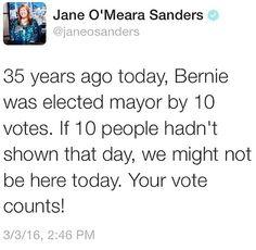 Every vote counts. Make them feel the Bern! #Bernie2016 #FeelTheBern
