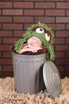 Inspiration For New Born Baby Photography : Grouch Newborn Scene