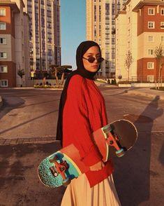 Modest Fashion Hijab, Modern Hijab Fashion, Street Hijab Fashion, Casual Hijab Outfit, Hijab Fashion Inspiration, Muslim Fashion, Hajib Fashion, Fashion Outfits, Hijab Fashionista