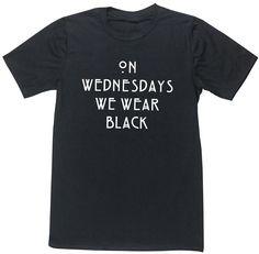 HippoWarehouse ON WEDNESDAYS WE WEAR BLACK unisex short sleeve t-shirt