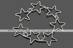 CCF27 fancy open star link copper chain Beads,Beading supplies,Gemstone beads wholesale,Jewelry findings