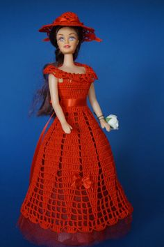 Homemade Crochet Barbie doll dress by NatalyCrochet on Etsy