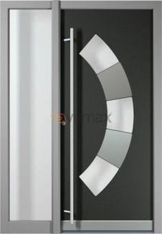 Puerta de Entrada en Aluminio  Elegancia. Seguridad y Diseño  Las puertas de entrada de aluminio Vemax, dan el primer toque de carácter a nuestro hogar; aparte de asegurarnos seguridad frente a robos, intimidad y protección ante agentes meteorológicos. Una puerta moderna o con estilo es el avance de lo que encontraremos en el interior de la vivienda.Linea Innovax