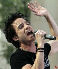 train's lead singer | Pat Monahan, lead singer of the group Train, performs with the band on ...