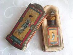 ANTIQUE L.T. PIVER PARFUM POMPEIA PERFUME BOTTLE IN ORIGINAL BOX