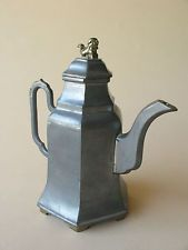 old Chinese PEWTER metal TEAPOT handle spout brass CHINA foo dog Hand teapot