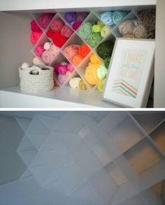 $20 DIY Yarn Storage | 32 DIY Storage Ideas for Small Spaces | DIY Organization Ideas for Small Spaces