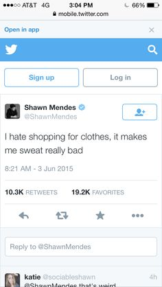 Shawns tweet. Me and Shawn are soo alike. I do the same thing. I love you Shawn Mendes. Follow me @ Fashionista1152