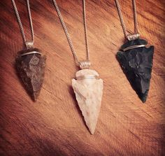 Arrow Head wrapped in Silver  necklace by KRUELINTENTIONS on Etsy
