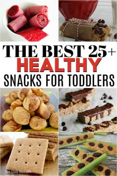 We have over 25 healthy snacks for toddlers they will love and actually want to eat! Find snacks that are easy to make and sure to be a hit. Healthy Fries, Healthy School Snacks, Healthy Toddler Snacks, Toddler Meals, Granola Bars Peanut Butter, Peanut Butter No Bake, Homemade Cheez Its, Homemade Trail Mix, Sweet Potato Brownies