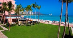 The Royal Hawaiian in Honolulu, Oahu - can't wait to see that vista!