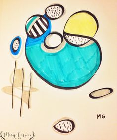 Color Abstract in Marker
