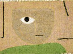 """Paul Klee, """"The Eye"""" (1938), pastel on jute."""
