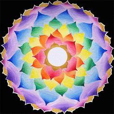 The crown chakra, Lotus mandala