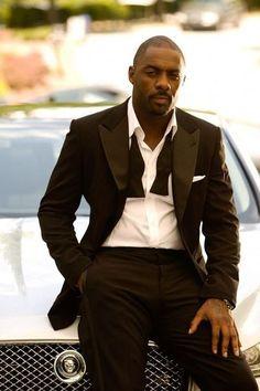 Idris Elba - always handsome, but put him in a tux? Sharp Dressed Man, Well Dressed Men, Black Dandy, Black Man In Suit, Black Is Beautiful, Gorgeous Men, Idriss Elba, Hot Men, Hot Guys