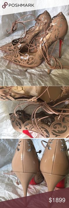 Christian louboutin impera nude patent leather 36 Brand new Christian louboutin impera size 36 euro runs small please now your size brand new no trades dust bag and extra heel tip included 708-375-0534 no low offers be realistic people are selling old ones for 1800+ Christian Louboutin Shoes Heels