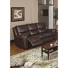 Bundle 50 Sedona Leather Reclining Sofa 3 Pieces By