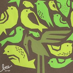 bird tree limited edition print  chocolate by beethings on Etsy, $25.00