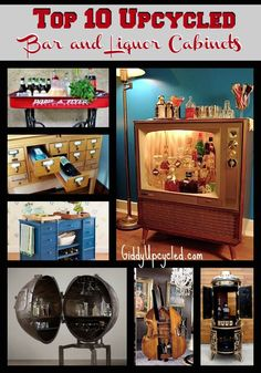 Fantastic upcycled bars and liqueur cabinets!
