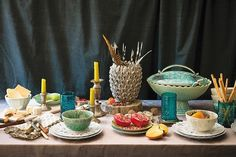 table settings, anthropologi pintowin, anthropologie table setting, color patterns, holidays, anthropologi tabl, tabl set, parti, holiday tables
