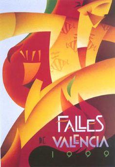 Cartel Fallas de Valencia 1999.  Diseño: Vicent Vidal Miñana.