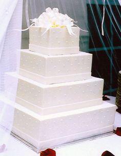 square wedding cake, white on white Whimsical Wedding Cakes, Wedding Cake Decorations, Elegant Wedding Cakes, Beautiful Wedding Cakes, Wedding Cake Designs, Wedding Ideas, Elegant Cakes, Wedding Photos, White Square Wedding Cakes