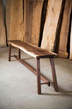 Modern walnut bench #woodworkingbench