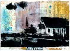 I want to learn this. Mod Podge mixed media image transfer art