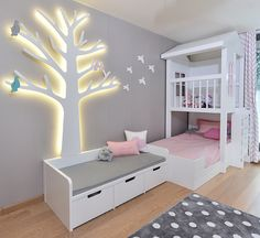 Our ELA bed/playhouse looks good next to the light up tree :) #crocodily #kidsarchitect