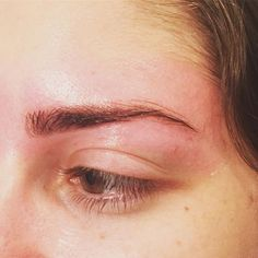 Brow tint & shape. She was really hesitant about tinting. But I convinced her muahaha   Don't worry I only use my power of persuasion for good  Because I KNEW it would be perfect for her!  You see all those tiny little sparse hairs over her arch??? The tint made them more visible.  It's a big misconception that the arch is all about underneath. No no no my pretties. The top is almost more important.  She's still gotta let those hairs grow back a bit more but when they do....  Watch
