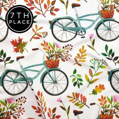 My Autumn Bike Ride made the top 10 this week in Rustic Fall Design Challenge on Spoonflower! A huge thank you to all who voted me! Thank you @spoonflower! The print is now available in my #spoonflower shop, link in bio. /Photo from Spoonflower's Facebook page/  .  .  #bike #bikes #watercolorart #watercoloring #watercolorartist #watercolorpainting #watercolorbike #handdrawn #patterndesigner #fabriclove #pattern #seamlesspattern #patterndesign #patternplay #surfacepattern…