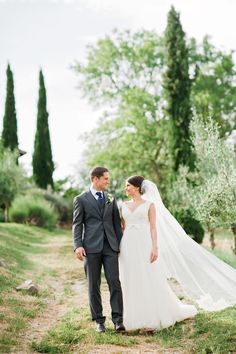 Bride & Groom Portrait - Image by Dominique Bader - Annasul Y Tulle Gown For A Classic White Wedding In Italy At Casa Cornacchi With Images From Dominique Bader