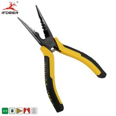 """RDEER 6"""" 150mm Long Nose Pliers Cable Cutter Chrome Vanadium For Cutting Fishing Crimping Tool Multitool"""