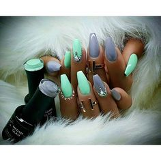 """Color: """"Call of the Wild"""" & """"Dusty Pastel Green"""" Cc: @madam_glam @oceannailsupply"""