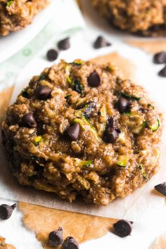 These skinny oatmeal cookies are the BEST -- they don't taste healthy at all! Soft, chewy, cozy spices, melty chocolate... And just 98 calories!