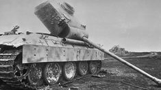 A destroyed German Panther