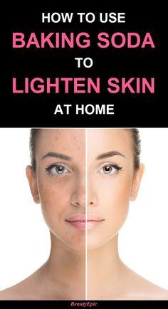 how to lighten skin using baking soda