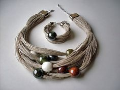 As you go on your fashion jewelry making journey, you'll discover that you will typically experience wires. Precious jewelry makers, the imaginative lot, have actually discovered numerous methods to include them in pieces in various methods. Textile Jewelry, Fabric Jewelry, Beaded Jewelry, Handmade Jewelry, Jewelry Necklaces, Beaded Bracelets, Fabric Necklace, Diy Necklace, Halloween Schmuck
